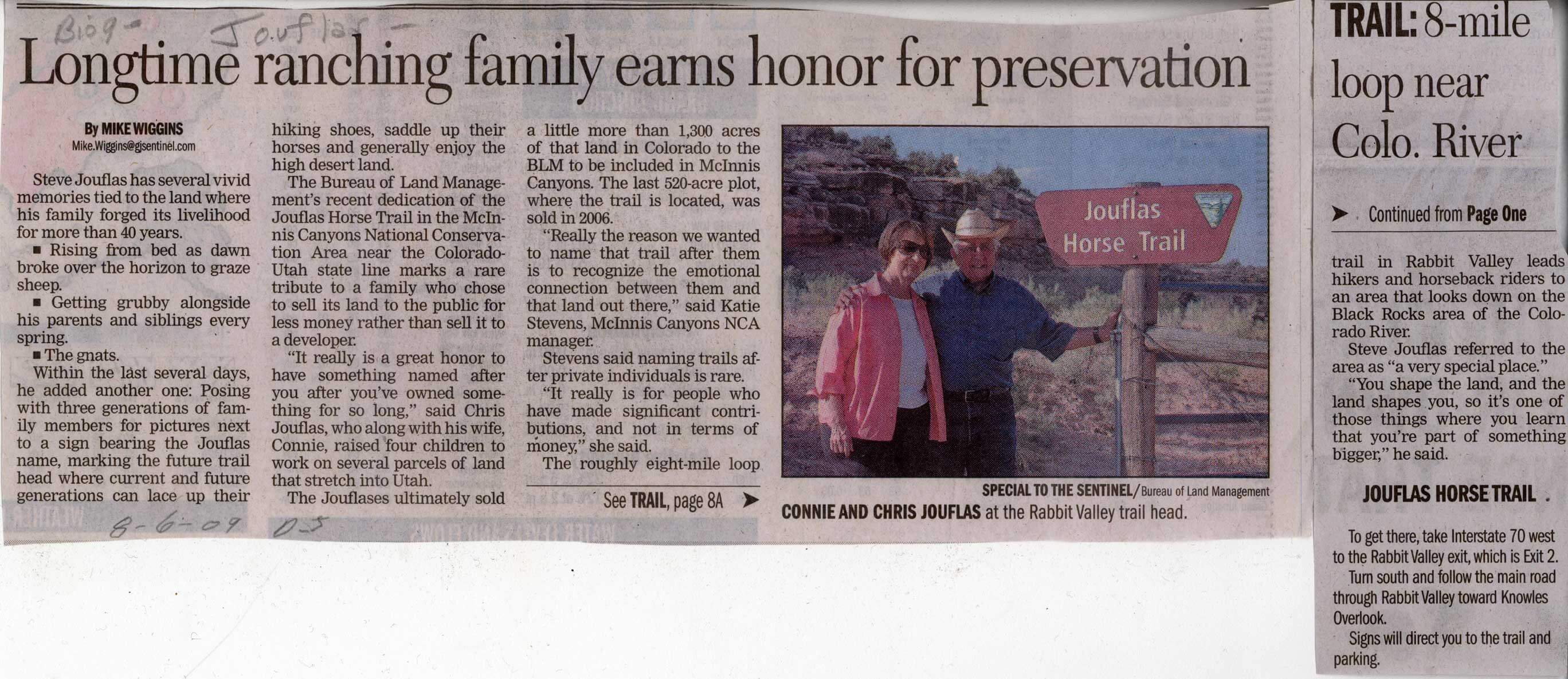 Jouflas Horse Trail Article