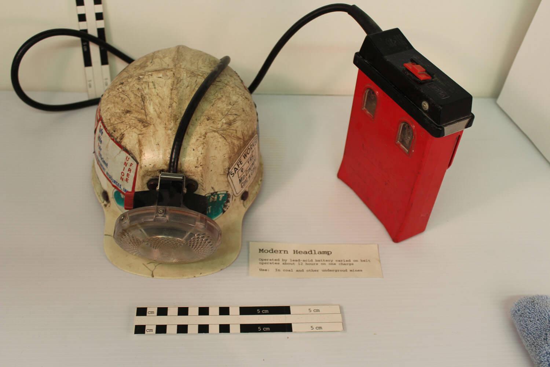 Modern mining helmet. BLM Collection.