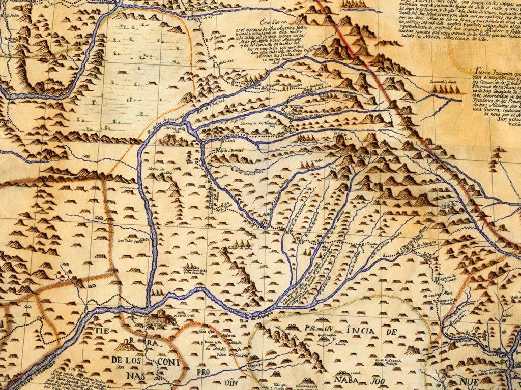 Pacheco's map from the Dominguez and Escalante Expedition in 1776.