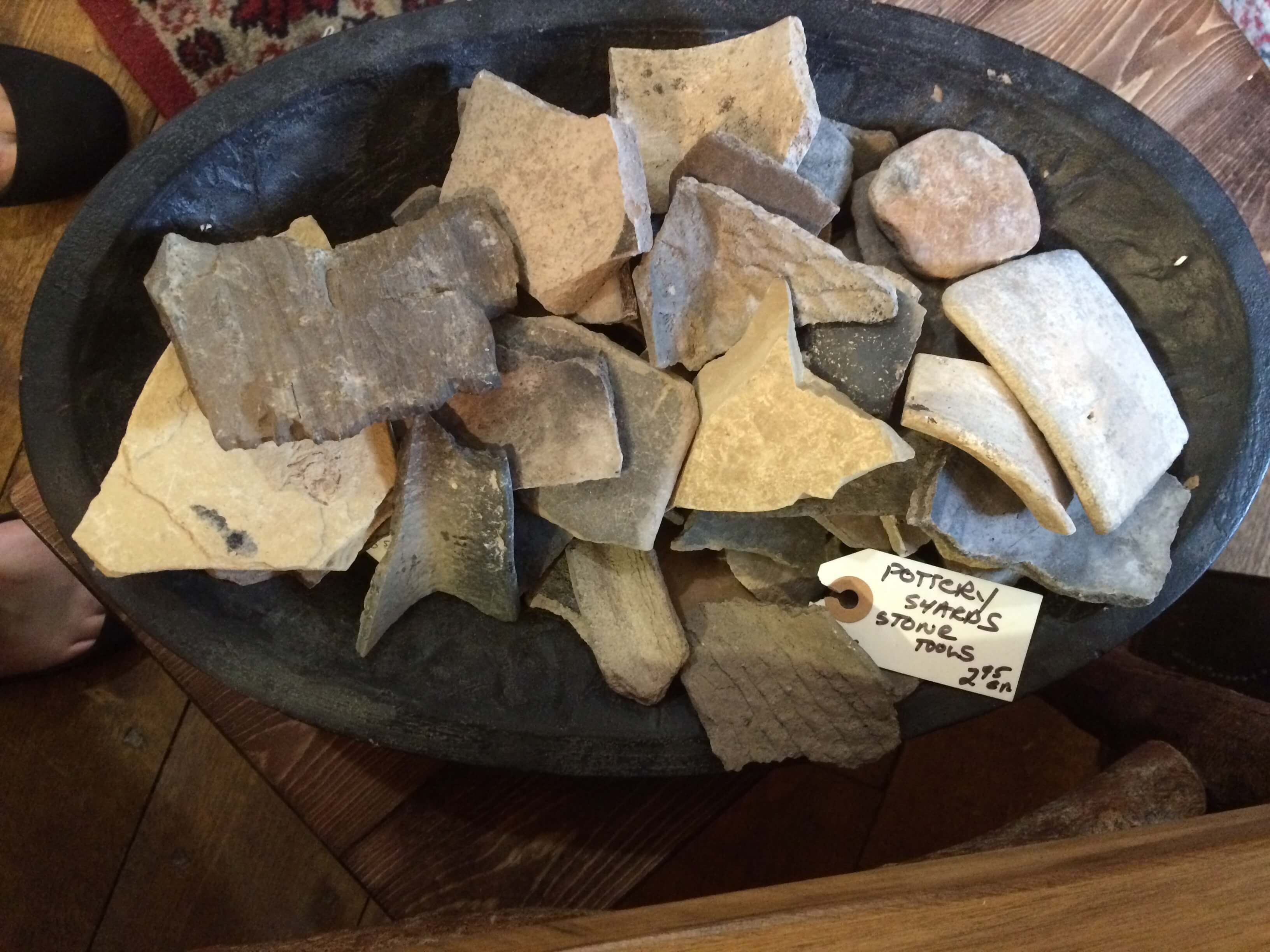 Pottery sherds and projectile points