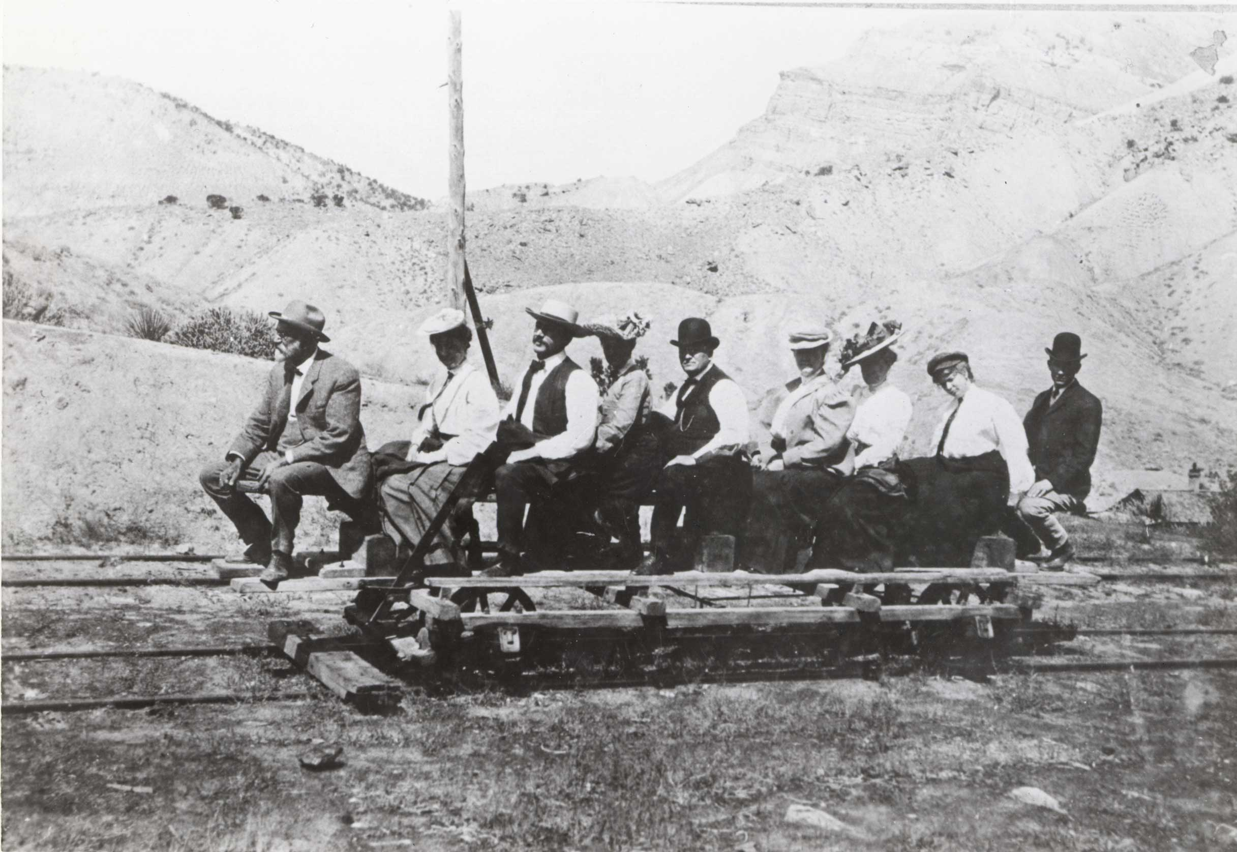 The Go Devil on the Little Book Cliff Railroad in 1903.  Photo # 1982.0000.0020, Lloyd Files Research Library.