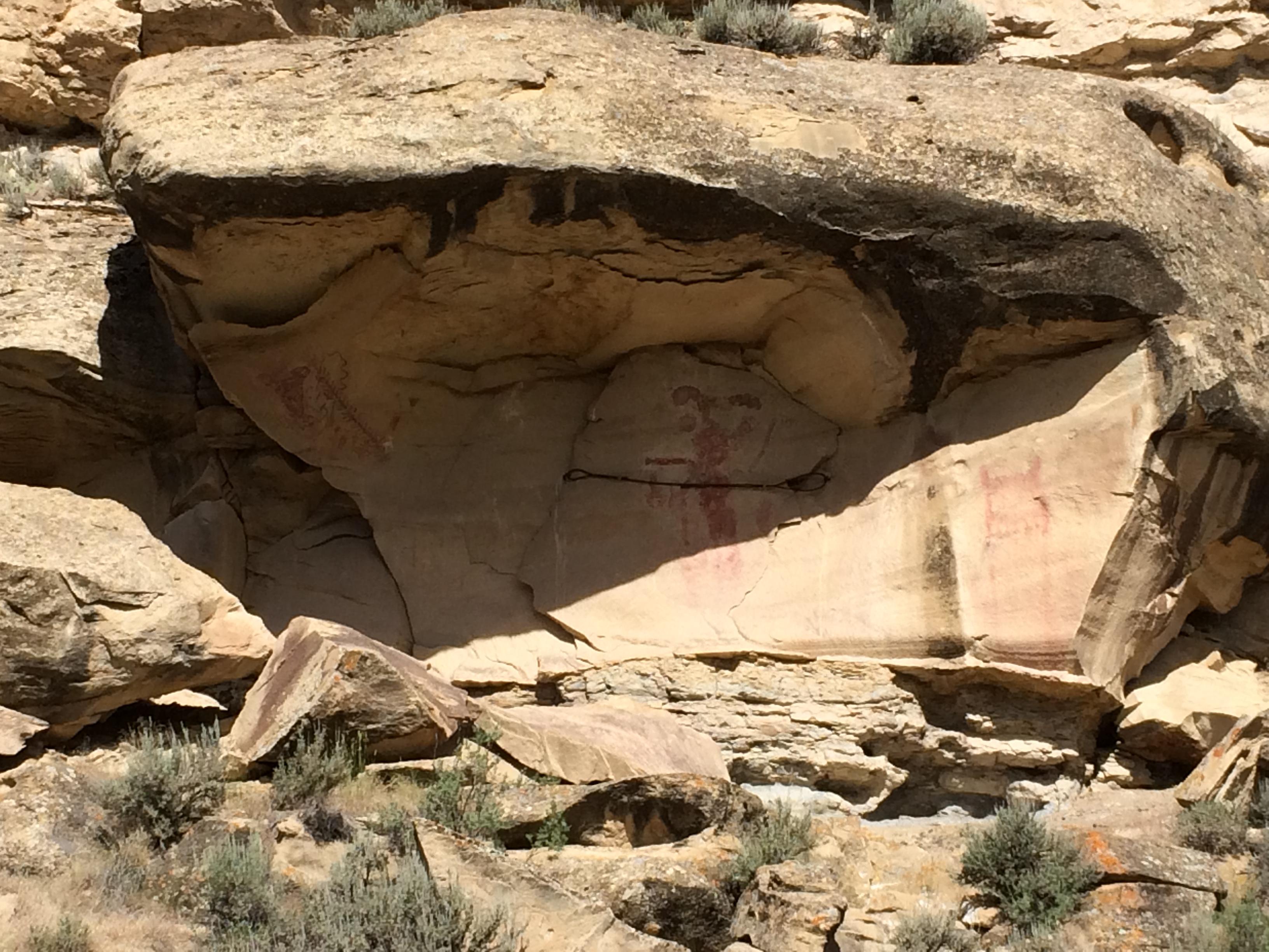 The Kokopelli figure in Canyon Pintado .