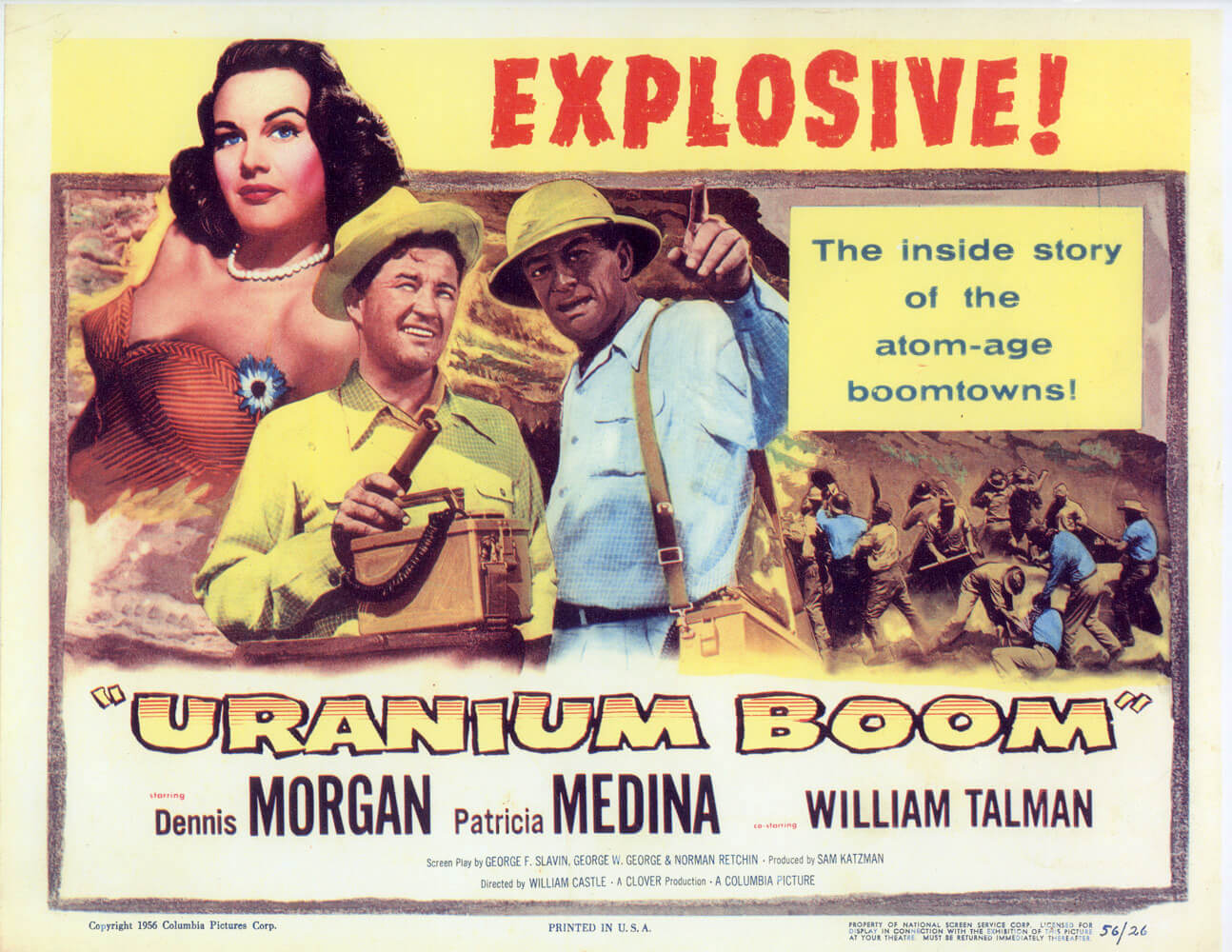 The Uranium Boom caused such an uproar that a feature film was even dedicated to the story. Lloyd Files Research Library.